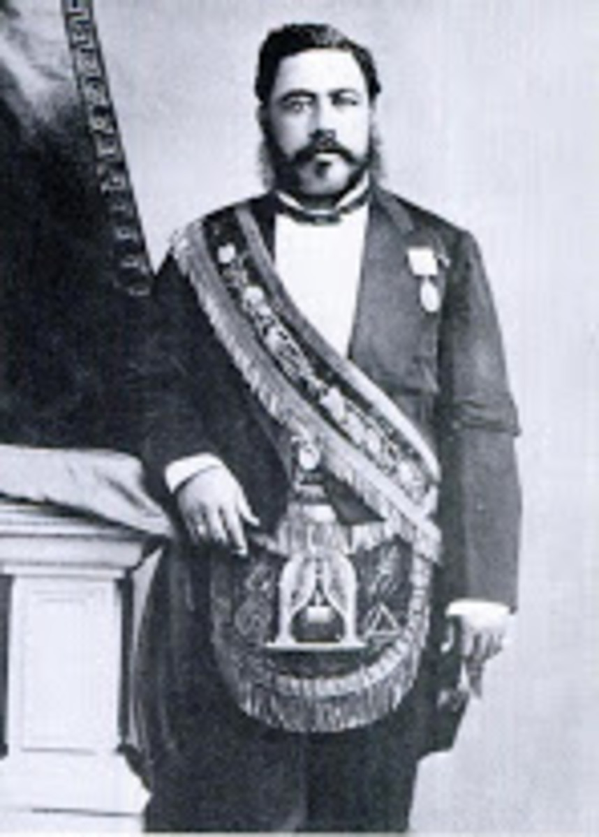 The Merrie Monarch, was the last reigning king of the Kingdom of Hawaiʻi. He reigned from February 12, 1874 until his death in San Francisco, California, on January 20, 1891.