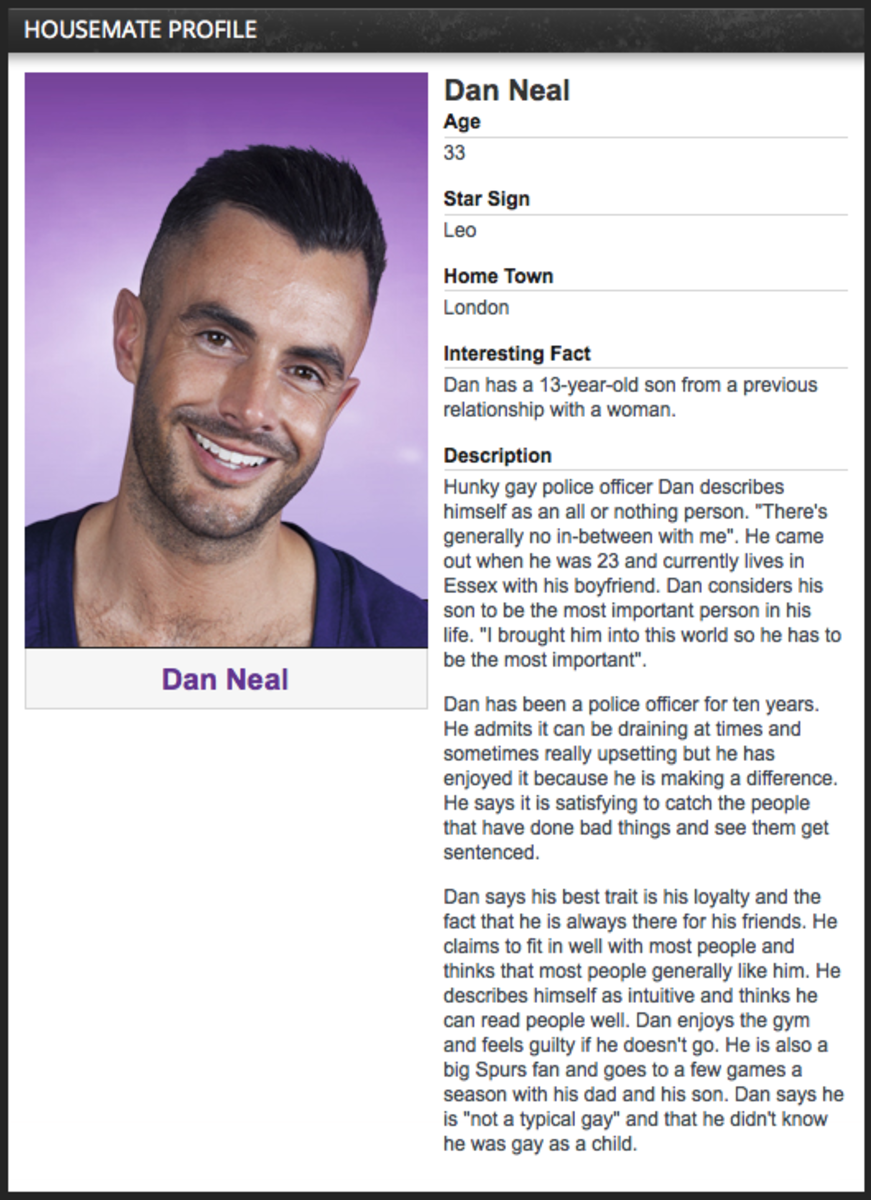 Dan Neal Policeman from Big Brother