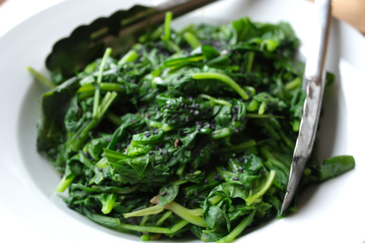 Spinach is  an excellent source of iron. It can be prepared in a variety of ways; cold, hot, in salads and in casseroles.