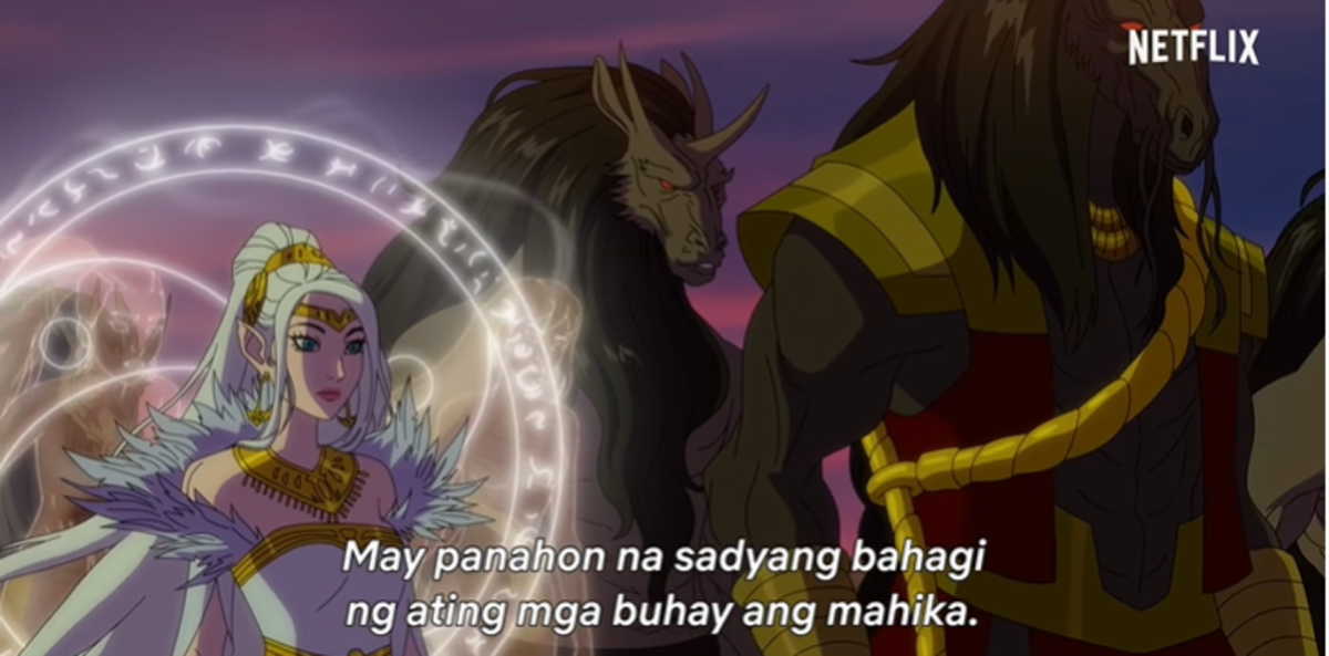"""They were all Diwata in Netflix's Trese (subtitle reads: """"There was a time when magic in the world was a natural part of life."""")"""