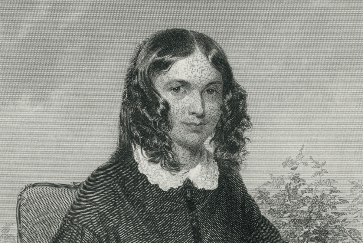 Elizabeth Barrett Browning: Engraving from original Painting by Chappel, 1872
