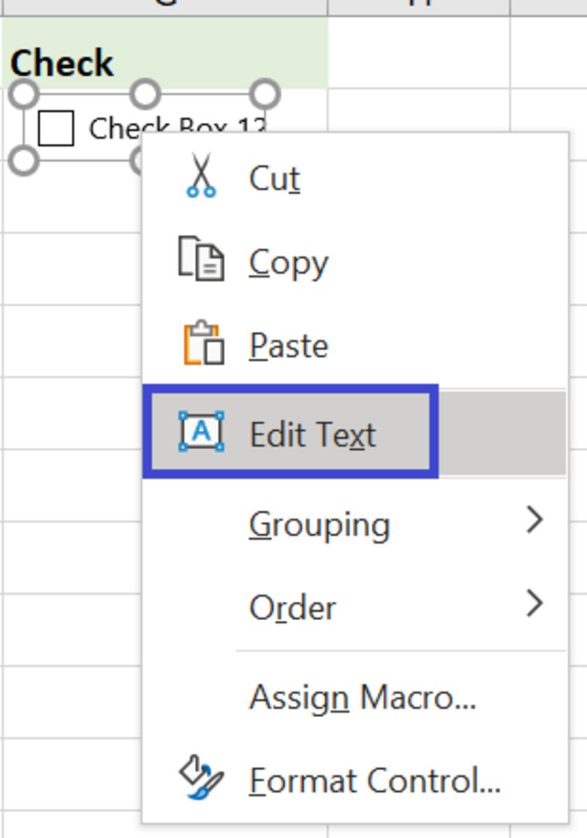 Right Click > Edit Text