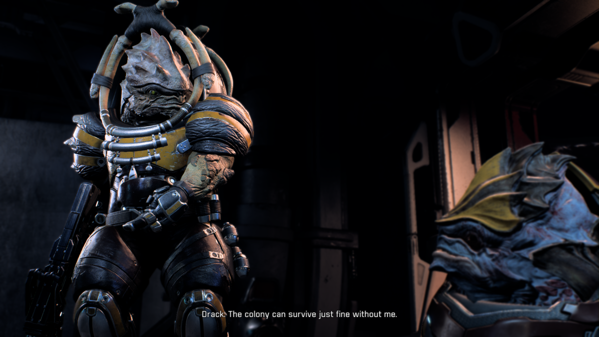 My screenshot of Drack fighting with Vorn.
