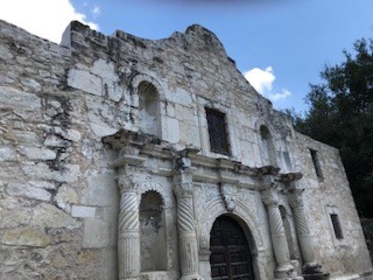 Viewing the Alamo up close.