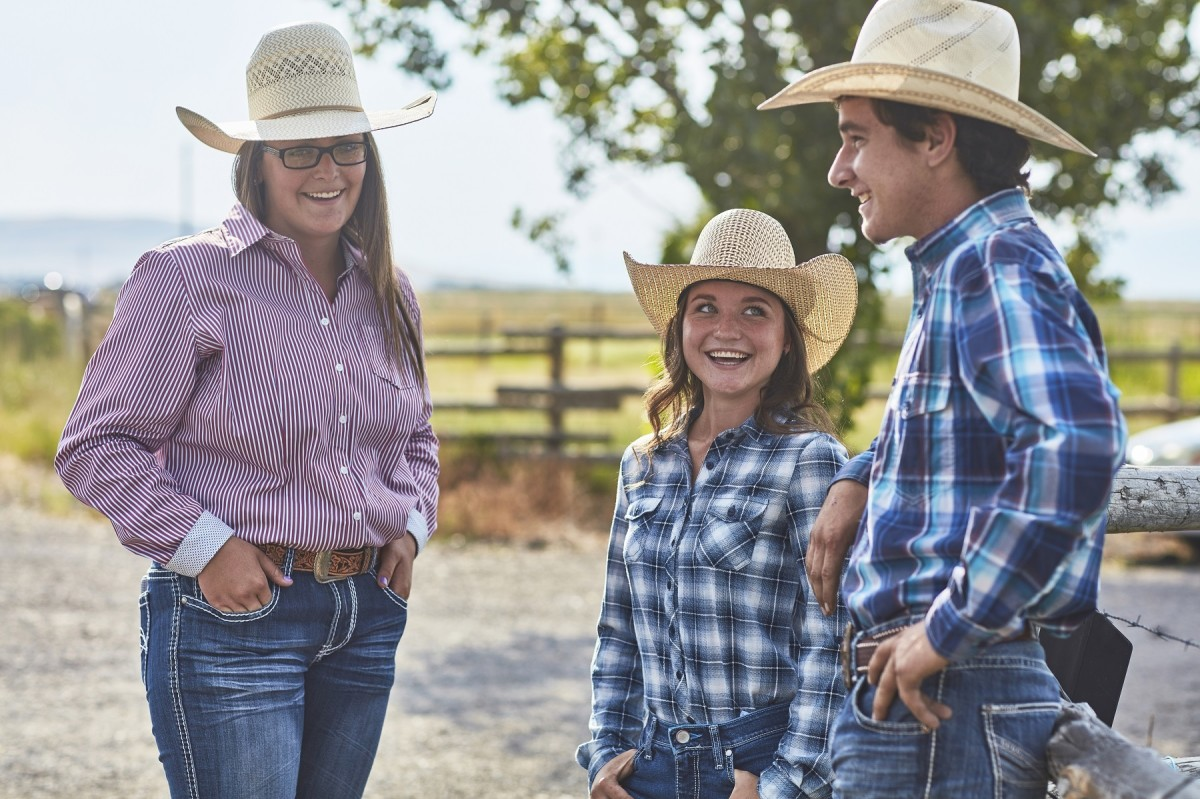 These pretty girls could be enjoying a rodeo or a town picnic.