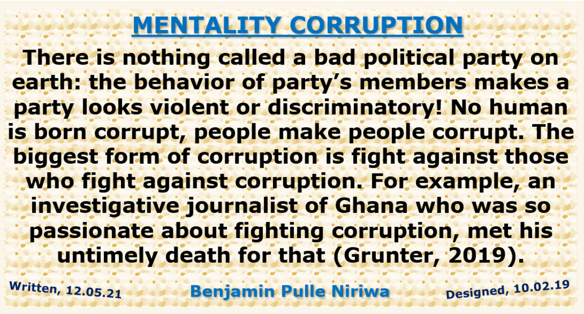 Are Increased Corruption Scandals and Attack on Journalists Exposés of Corruption Mentality?