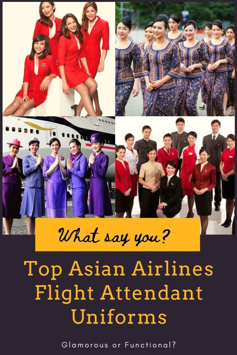 Top Asian Airlines Flight Attendant Uniforms