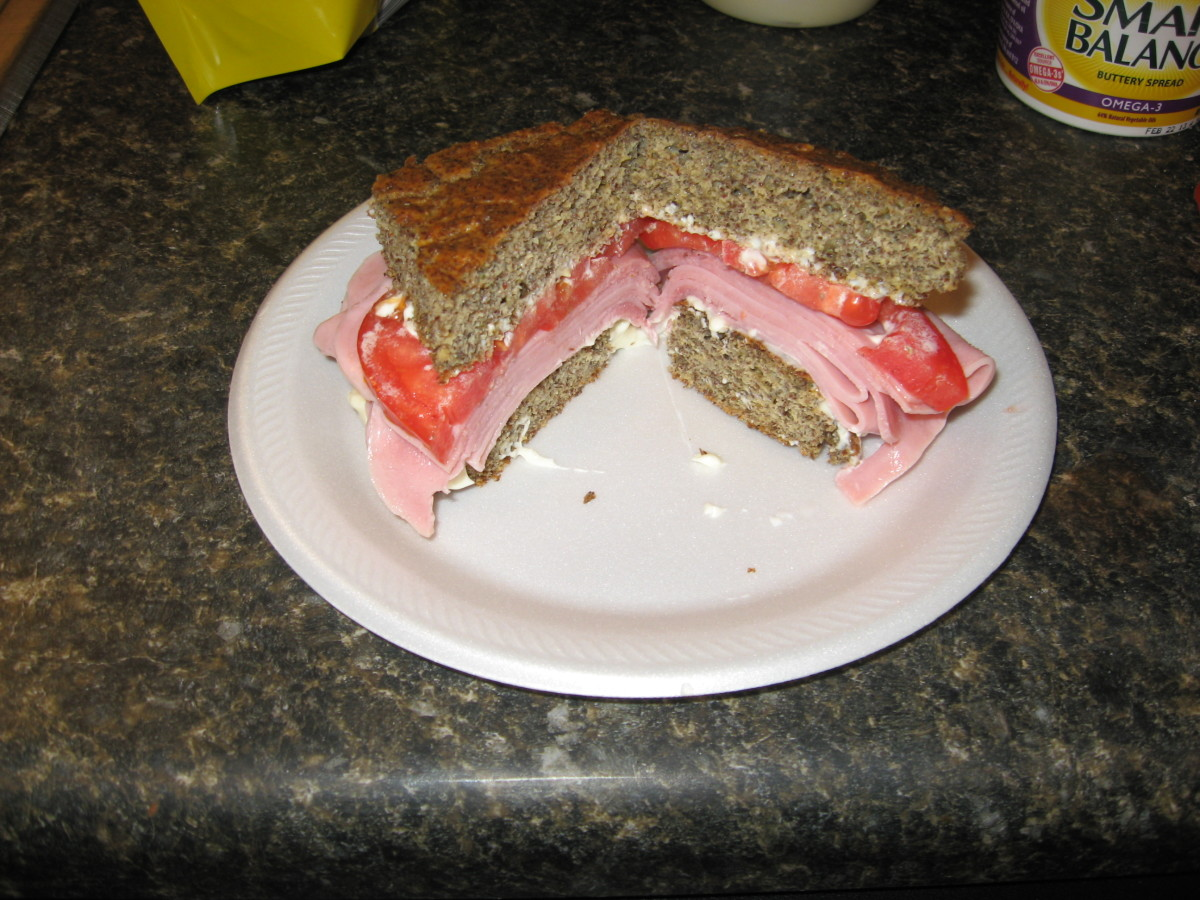 Low Carb Sandwich. Try my Low Carb Bread Recipe!