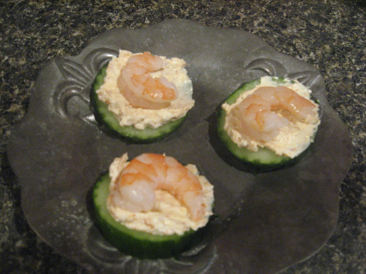 cukes and shrimp