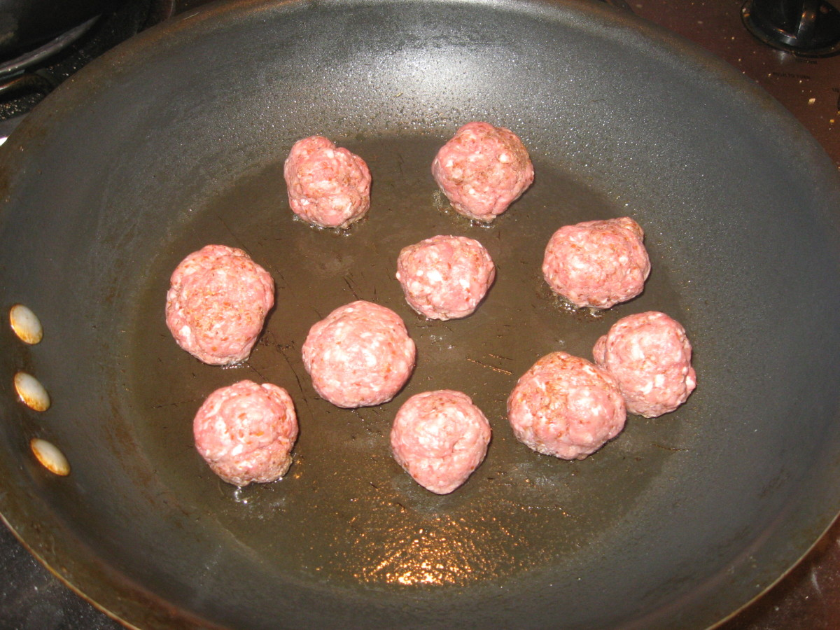 Fry the meatballs.