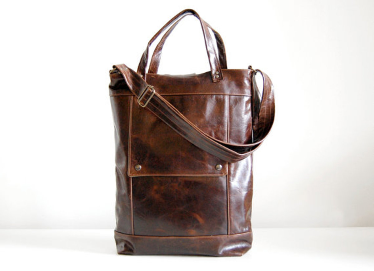 Jenny makes briefcases and other professional bags that are ideal for men and women.
