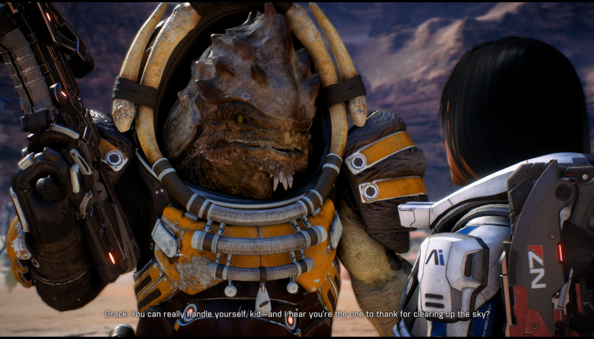 My screenshot of Drack joining up with Ryder.