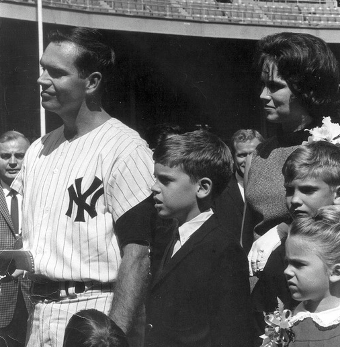 September 17: Bobby Richardson and his family were honored by the Yankees.