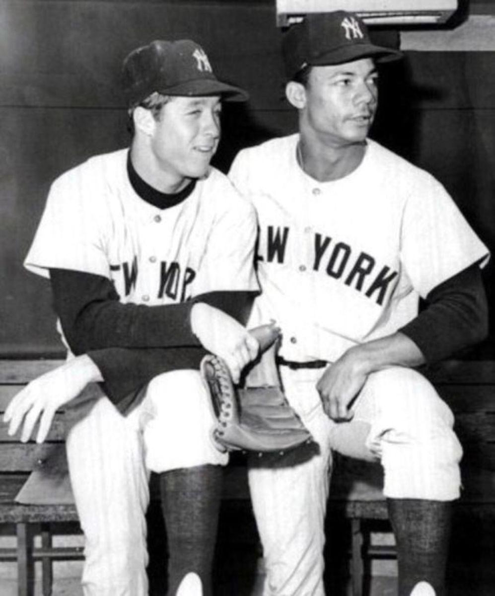 Future Yankee Stars Bobby Murcer and Roy White.