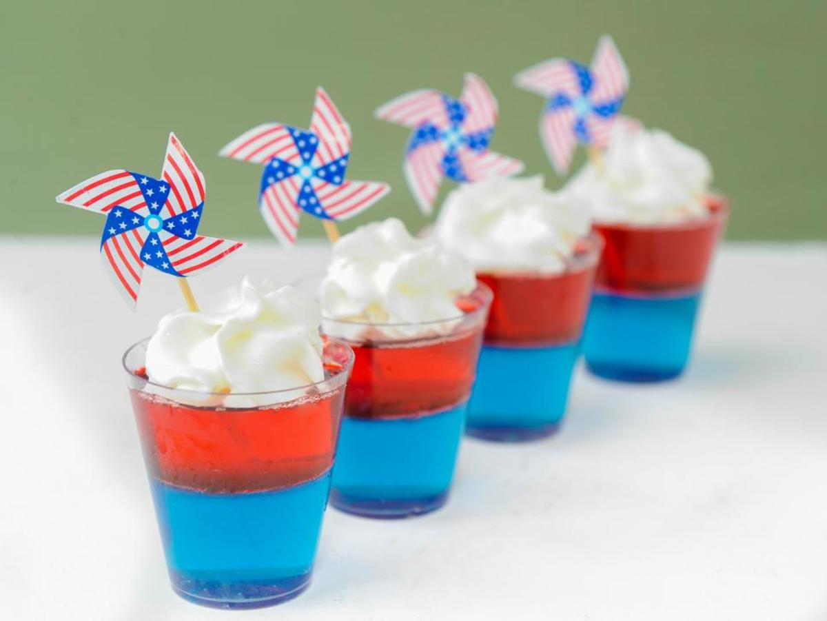 Fourth of July Jell-O Shots