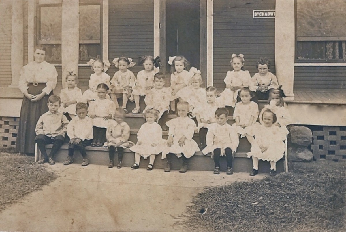 school children in Tyro KS early 1900s