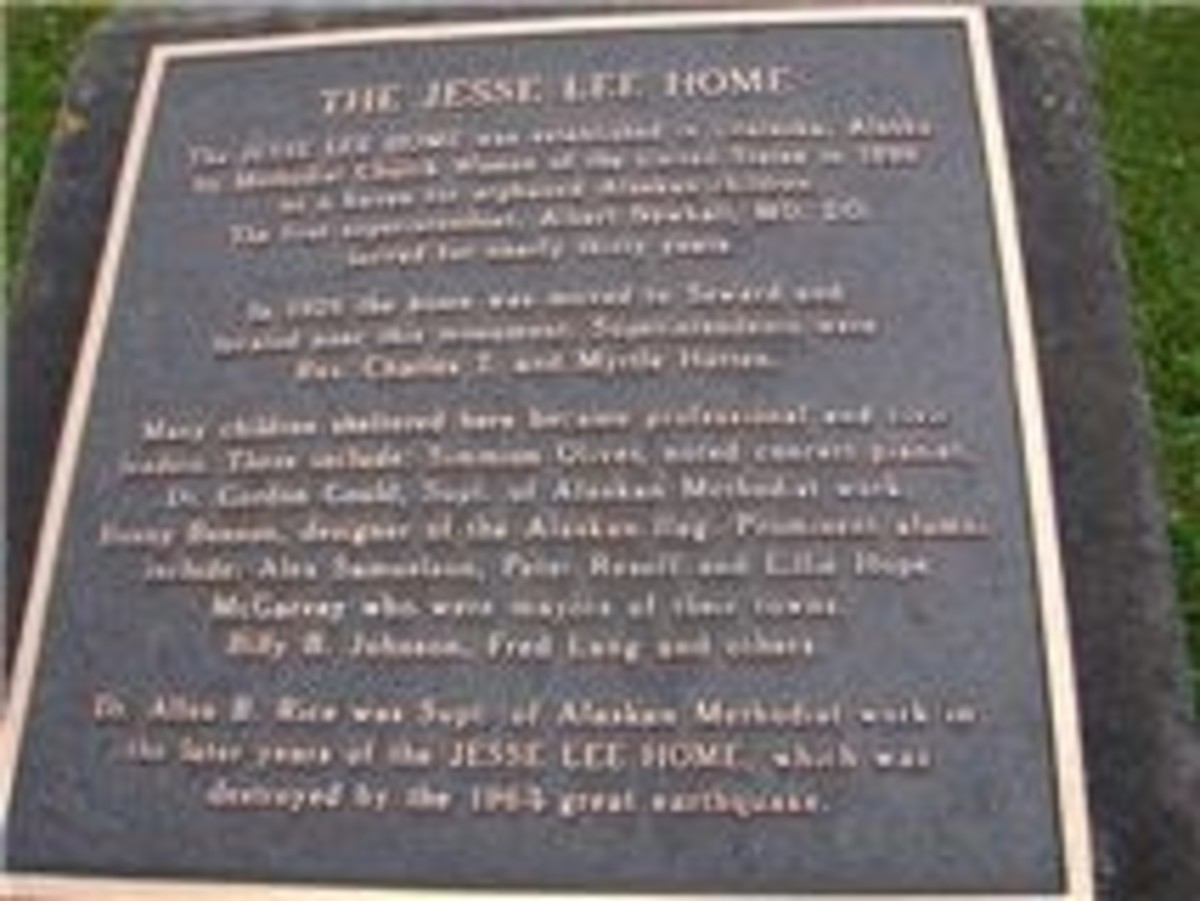 Plaque at the Jesse Lee Home (2010)