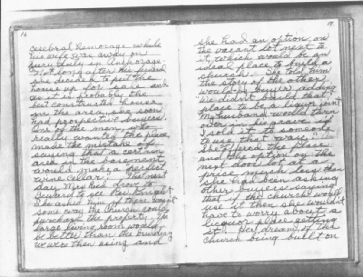 Bertha McGhee's diary from the war - I need to transcribe this to include parts in the book about Bertha's life and work.