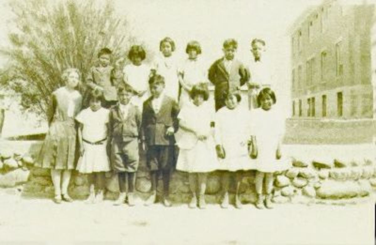 The Indian school in Farmington, NM where Bertha McGhee taught in 1929.