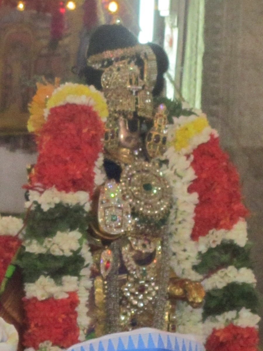 The ritual going on.  Photo taken on the occasion of Vaikunda Ekadasi