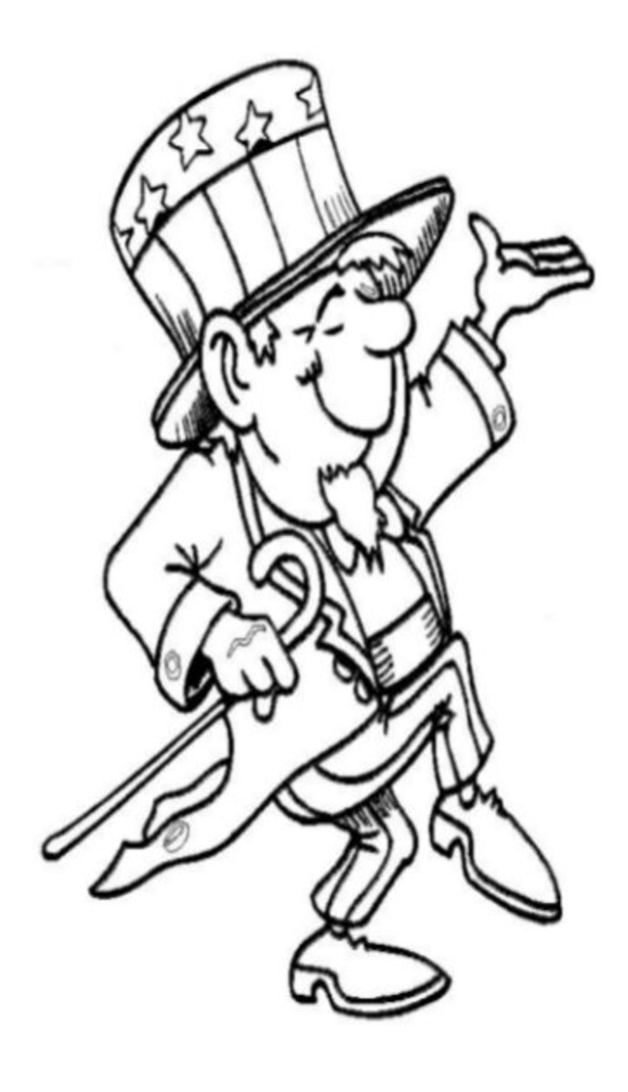 Patriotic America 4th-of-July Kids Coloring Pages and Free ...