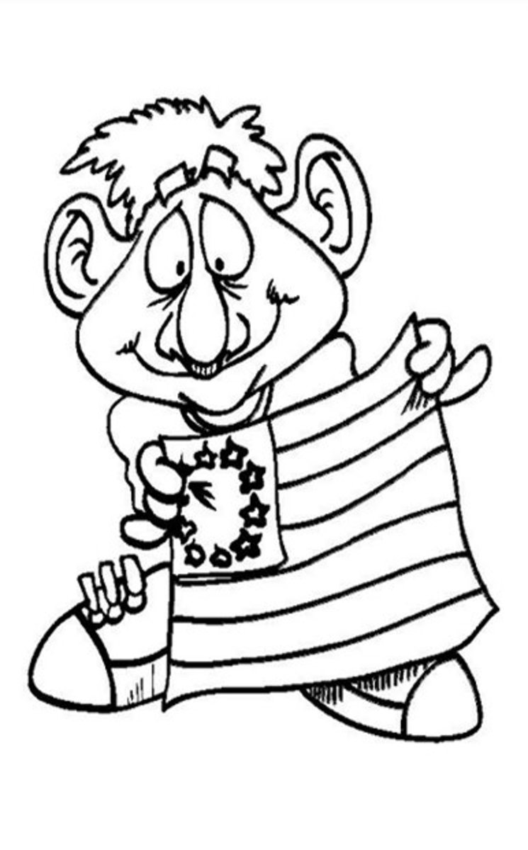 Classic American Flag - Patriotic America Kids Coloring Pages and Free Colouring Pictures to Print