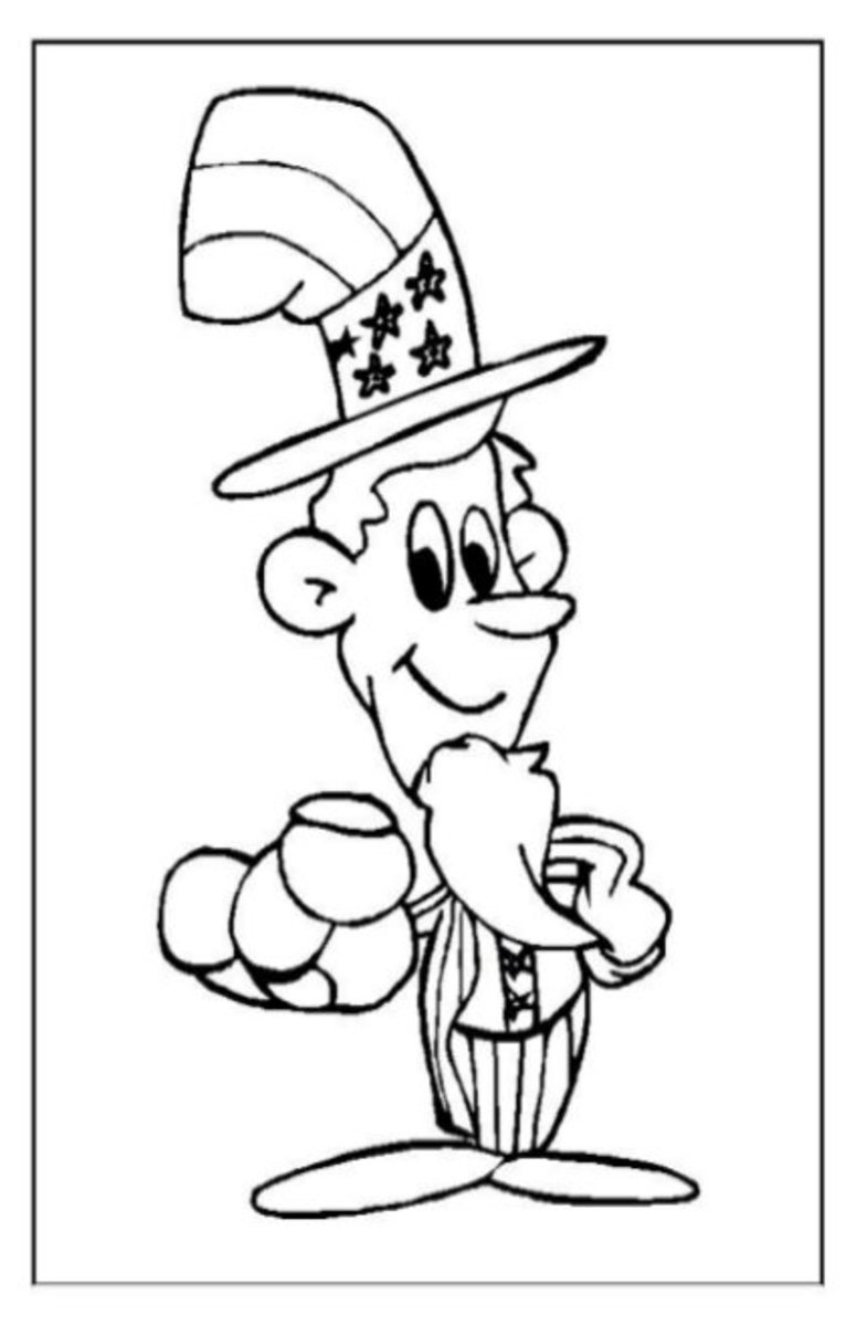 Proud Dad - Patriotic America Kids Coloring Pages and Free Colouring Pictures to Print
