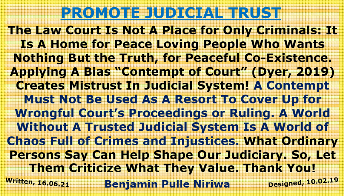 Fig. I. Promote Judicial Trust, Share Your Opinion(s) without Insults