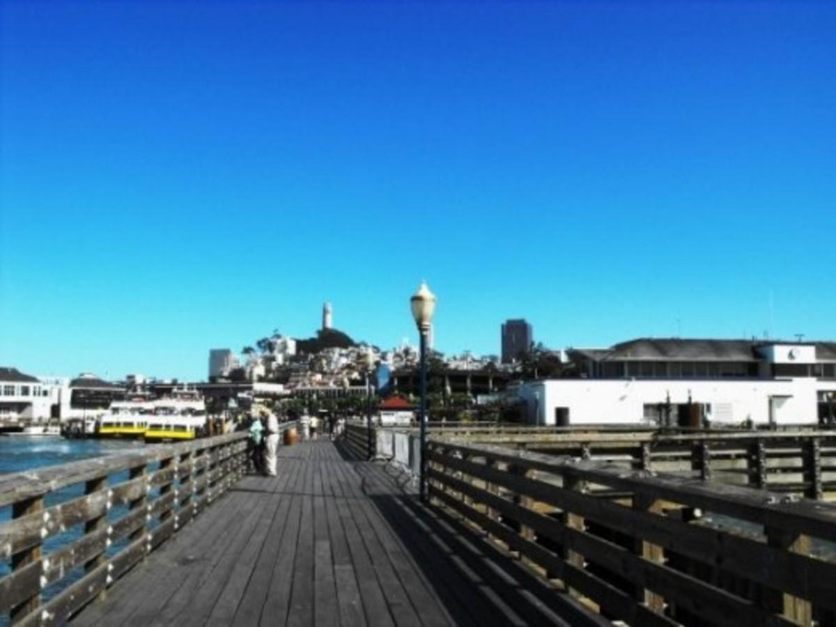 Boardwalk pier look towards Coit Tower