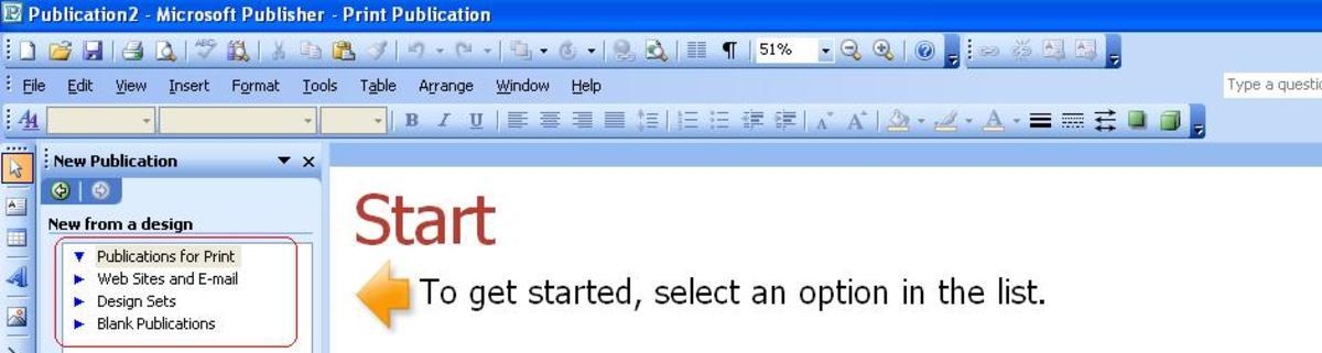 Publisher window