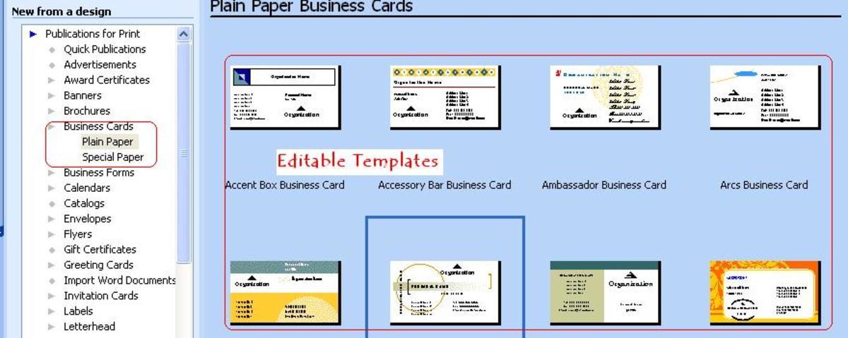 Publisher editable templates