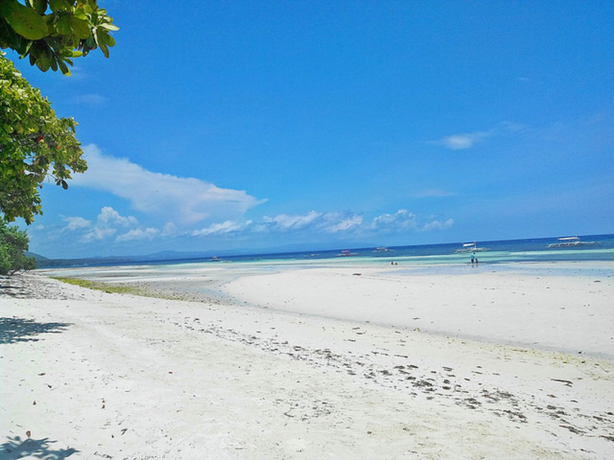 One of the beaches in Bohol, Philippines
