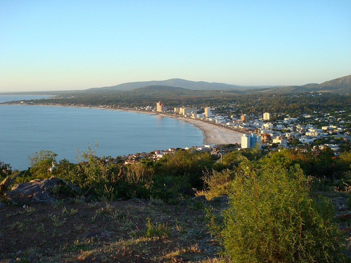 View of Piriápolis, from the top of Cerro San Antonio, Maldonado Department, Uruguay.
