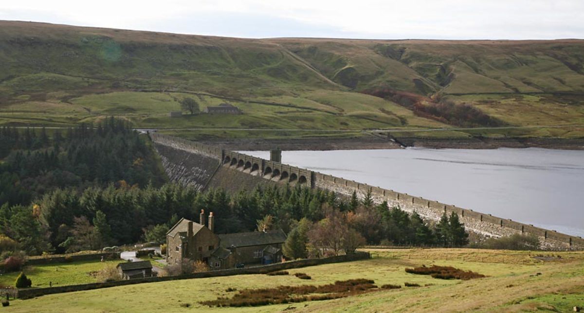 Scar House Dam at the bottom end of -..