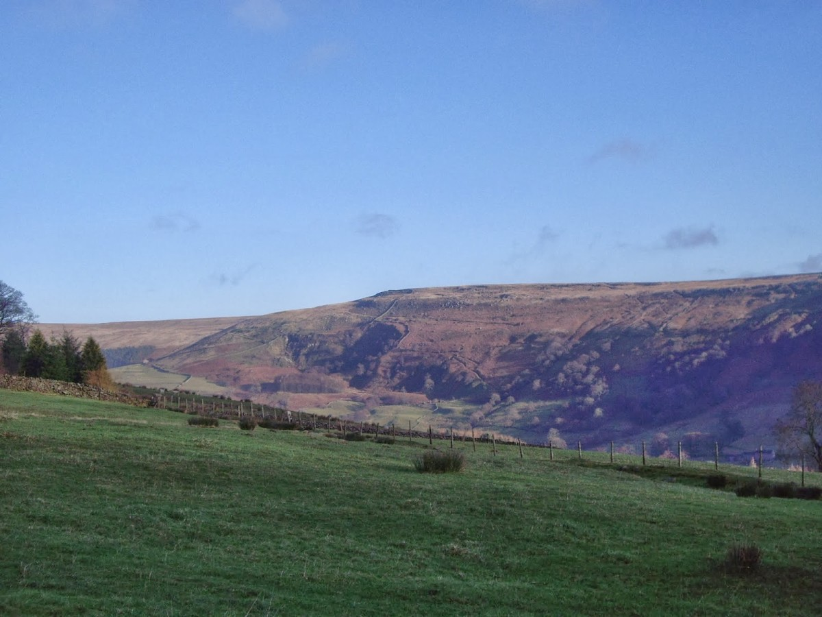 Dale Edge towards the Pennines, the spine of England and boundary with Lancashire