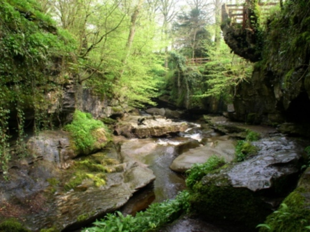 How Stean Gorge, a rigorous walking route - seen here near where the gorge opens out