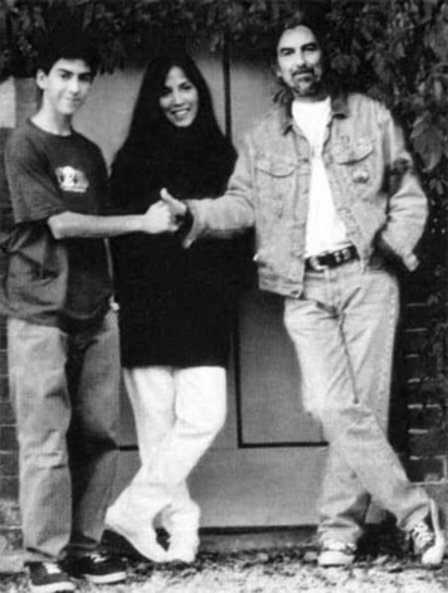 George, Olivia, and Dhani Harrison