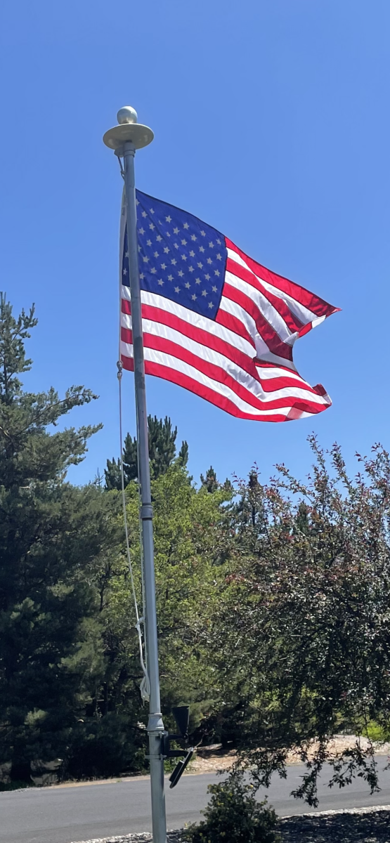 The flag flies year 'round in my front yard