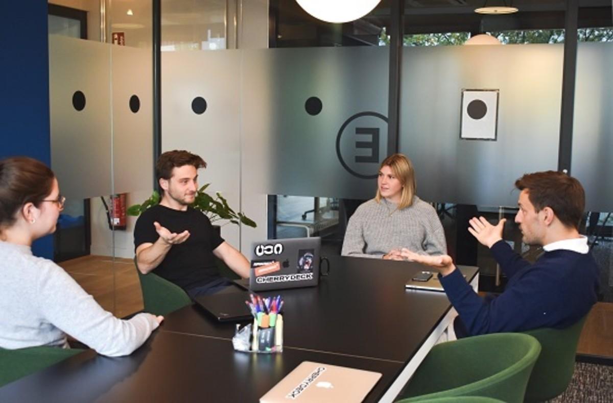 Web designers team working