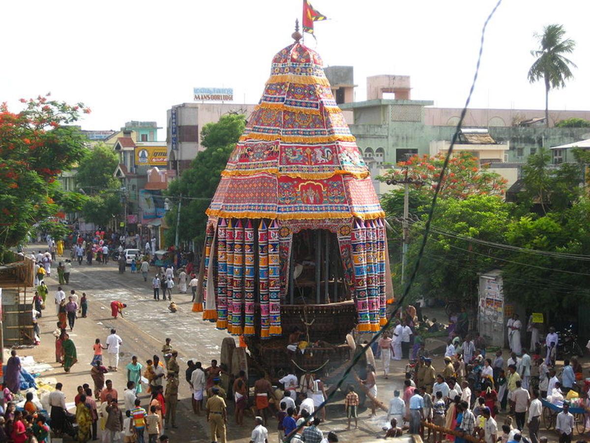 Temple festival in Chidambaram.