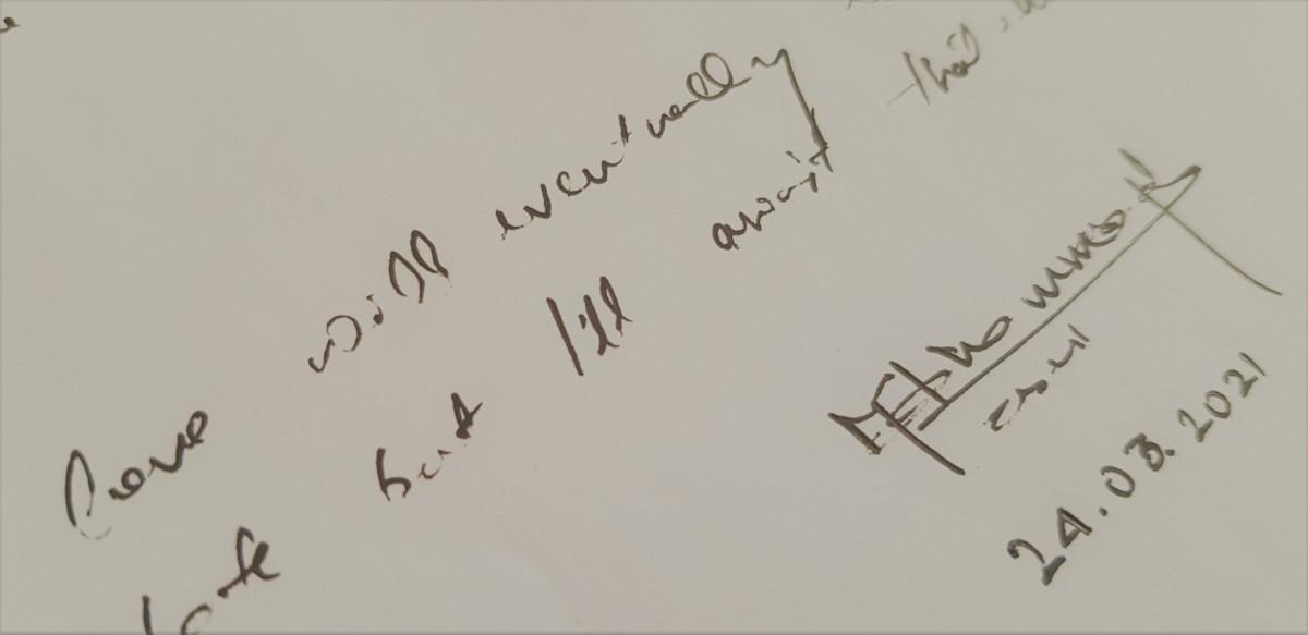 A glimpse into my drafts notebook.