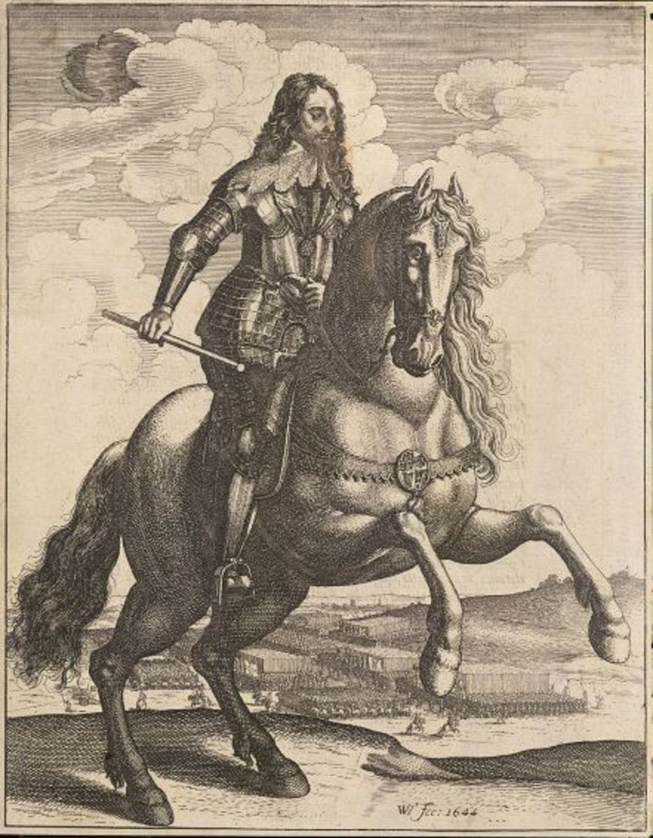 Charles I by Wenceslas Hollar during the First English Civil War, 1644