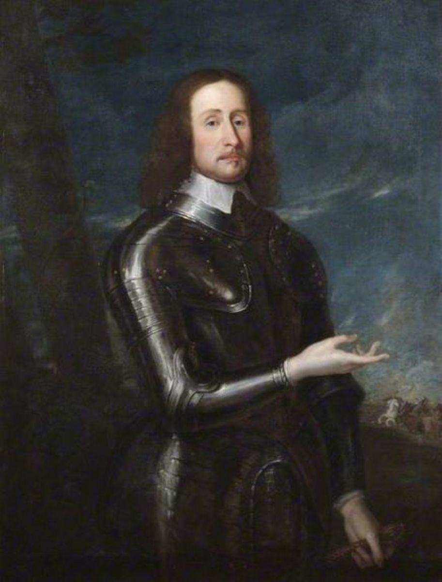 """Godfrey Kneller's portrait of John Hampden, one of the """"Five Members."""" He was Oliver Cromwell's cousin"""