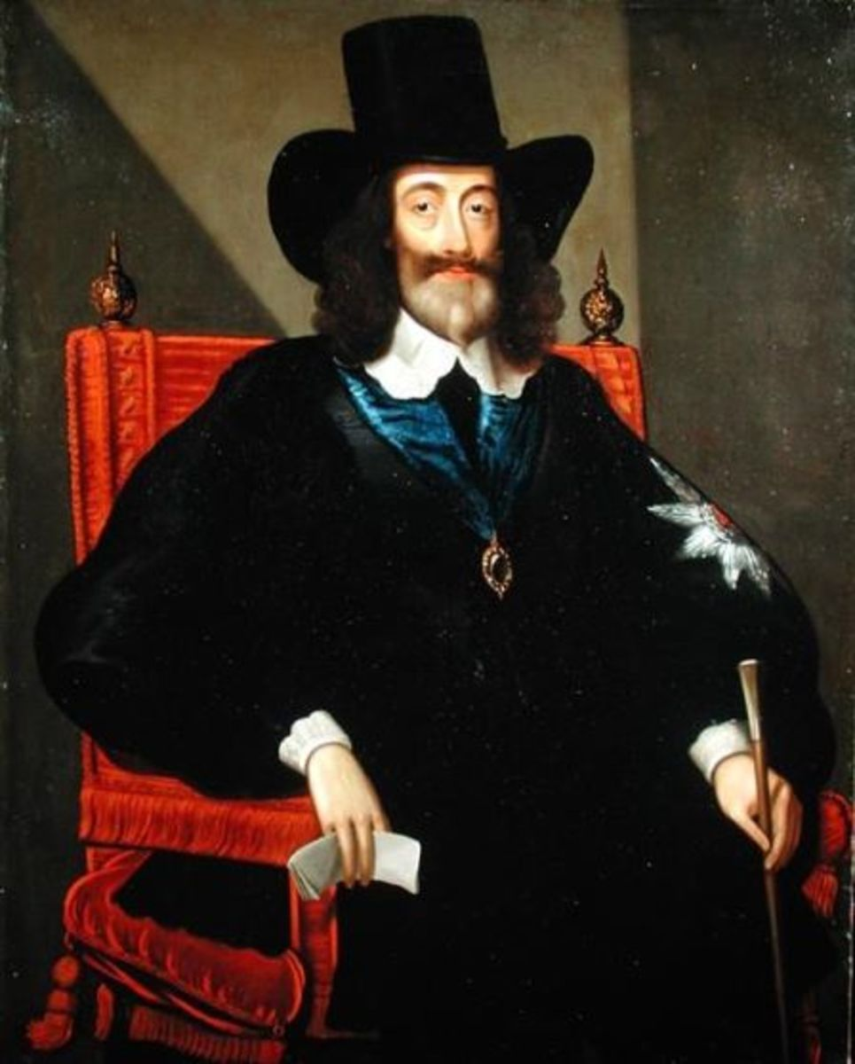 Edward Bower's portrait of King Charles I of England at his trial in January 1649
