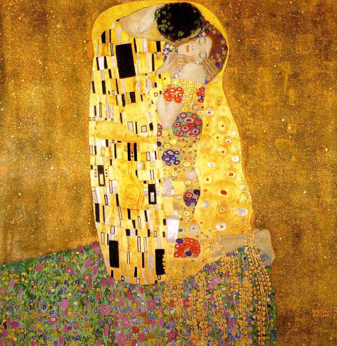 Posting works of art, such as this Klimt painting,  will draw women to your  page