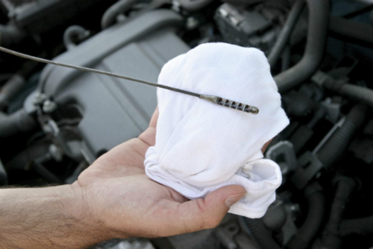 Engine oil check dipstick