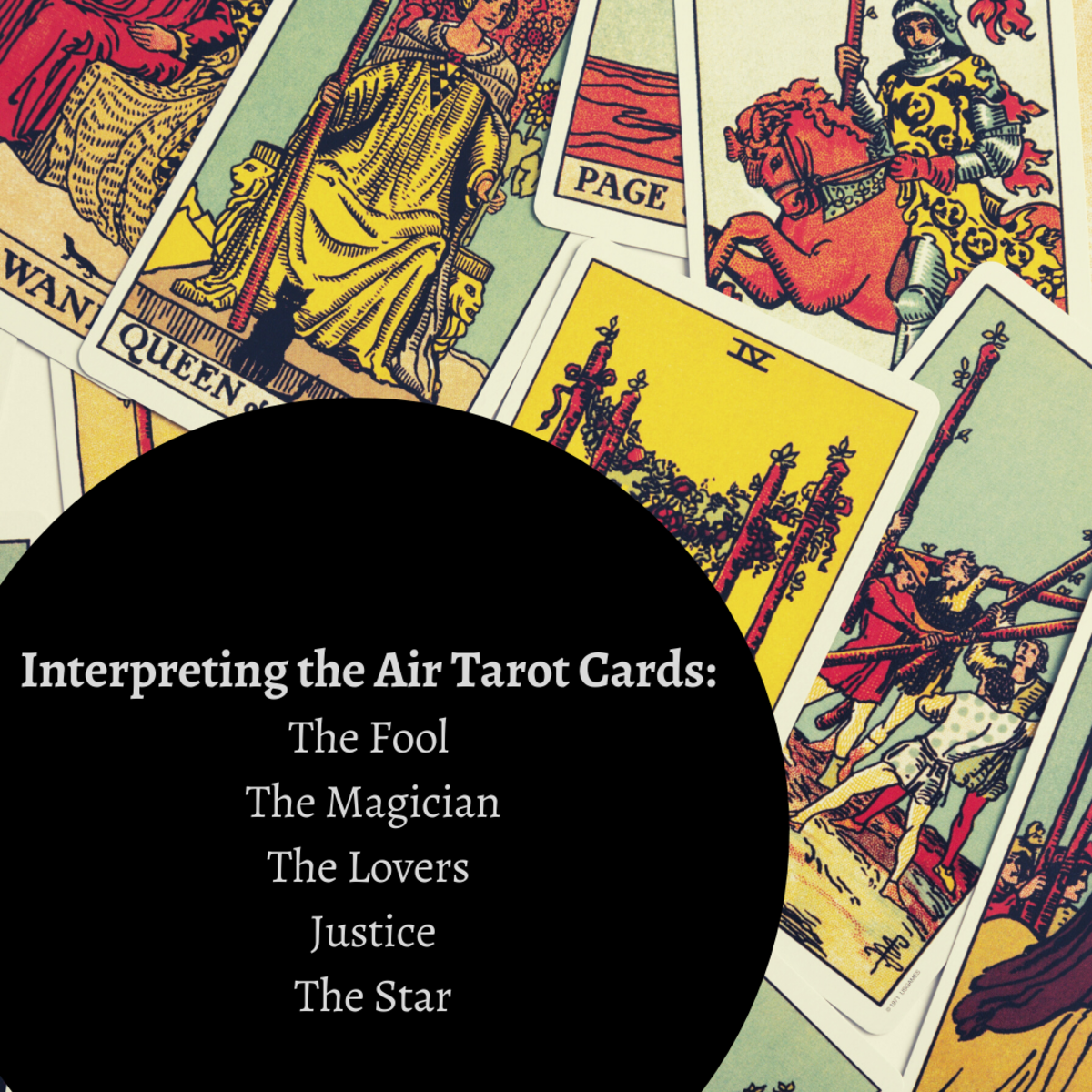 These cards are influenced by the air element.