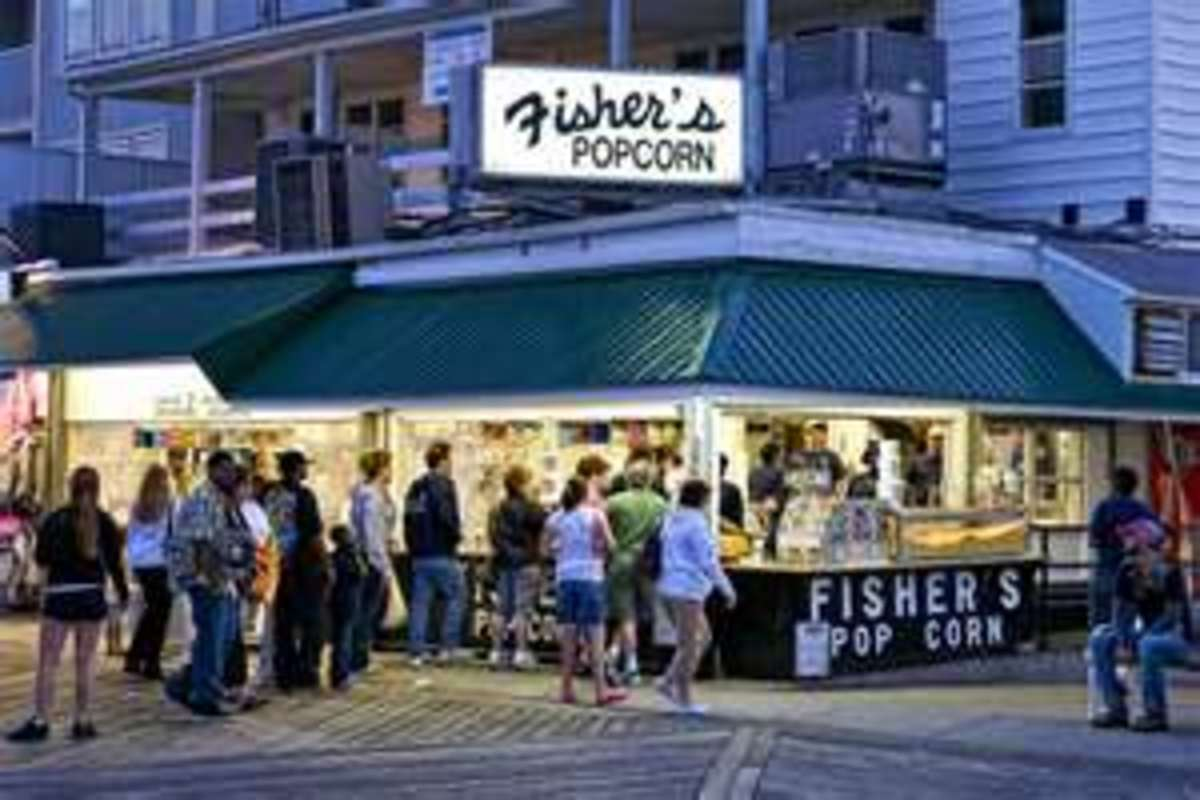 Lines for Fisher's Popcorn