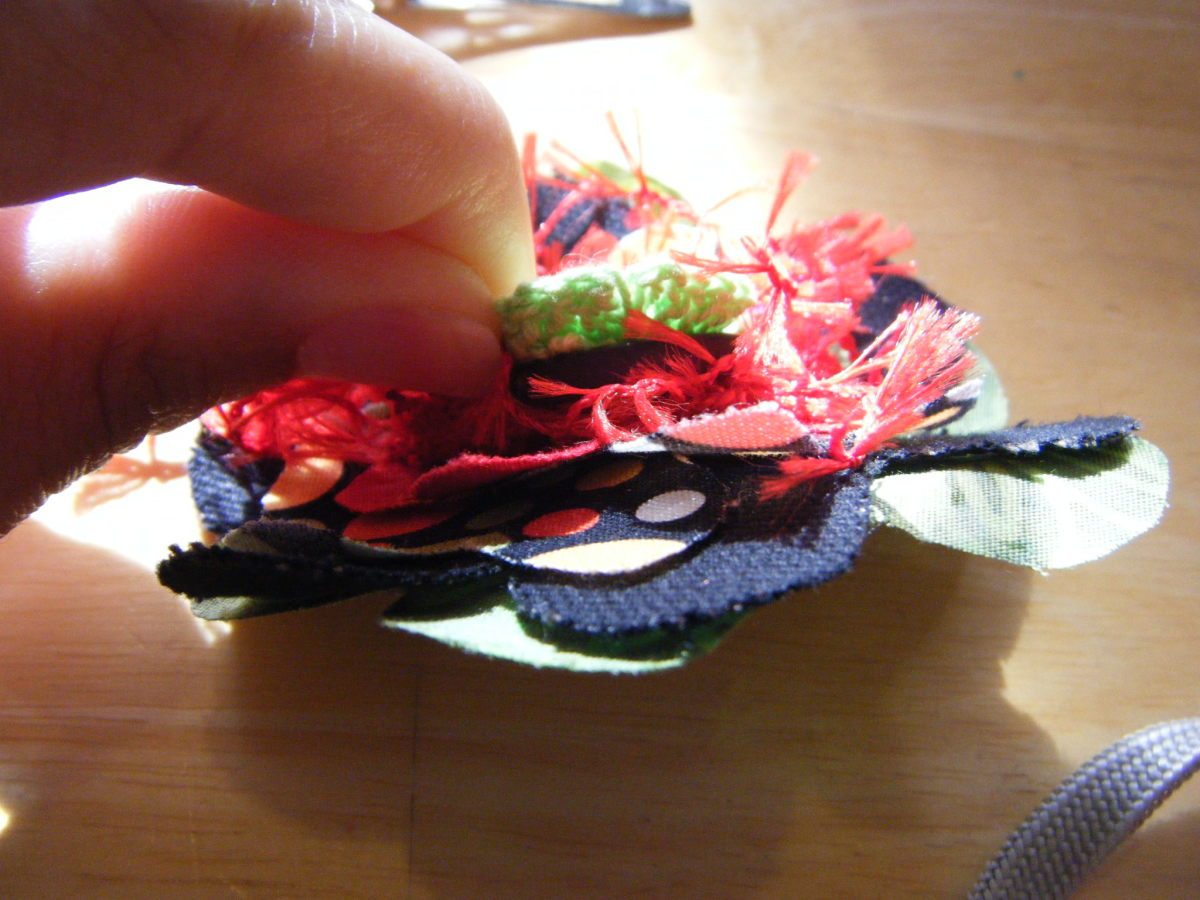 pinning it all together fabric hairclip