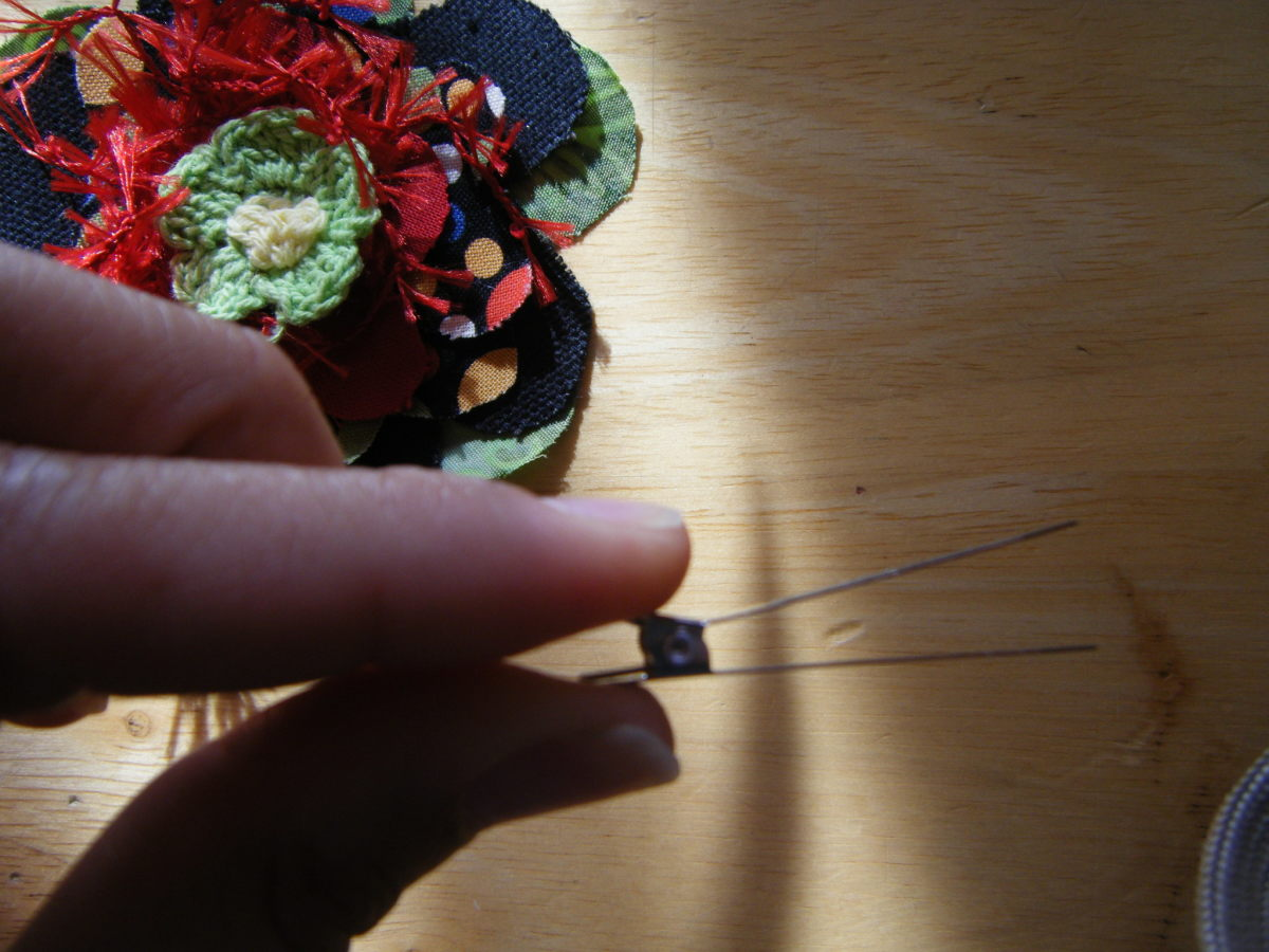Fabric Flower Hair Clip almost completed